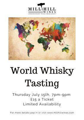 World Whisky Tasting 15th July 2021