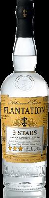 Plantation White Rum 3 star 70cl